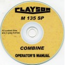 CLAYSON M135SP COMBINE OPERATING INSTRUCTION MANUAL ON CD