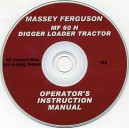 MASSEY FERGUSON MF 60 H DIGGER LOADER TRACTOR OPERATOR'S MANUAL ON CD