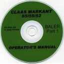 CLAAS MARKANT 66/55/52 OPERATOR'S MANUAL PART 1