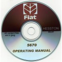 FIAT HESSTON 5670 BALER OPERATING INSTRUCTION MANUAL ON CD