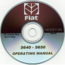 FIAT HESSTON 5640 - 5650 BALER OPERATING MANUAL ON CD