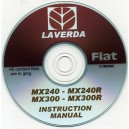 LAVERDA FIAT MX240 - MX240R & MX300 - MX300R COMBINE INSTRUCTION MANUAL ON CD