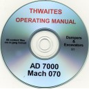 THWAITES AD7000 MACH 070 DUMPER OPERATING MANUAL ON CD