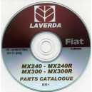 LAVERDA / FIAT MX240 - MX240R & MX300 - MX300R PARTS CATALOGUE ON CD