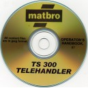 MATBRO TS300 TELEHANDLER OPERATOR'S MANUAL ON CD