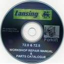 LANSING 72.0 AND 72.5 WORKSHOP REPAIR MANUAL PLUS PARTS CATALOGUE COMBINED ON CD