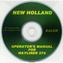 NEW HOLLAND HAYLINER 274 BALER OPERATOR'S MANUAL ON CD