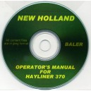 NEW HOLLAND HAYLINER 370 BALER OPERATOR'S MANUAL ON CD