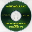 NEW HOLLAND 376 BALER OPERATOR'S MANUAL ON CD
