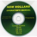 NEW HOLLAND TS90, TS100, TS110 & TS115 TRACTOR OPERATOR'S MANUAL ON CD