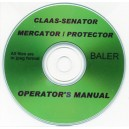 SLAAS SENATOR MERCATOR / PROTECTOR BALER OPERATOR'S MANUAL ON CD