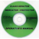 CLAAS - SENATOR, MERCATOR & PROTECTOR COMBINES OPERATOR'S MANUAL ON CD