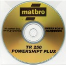 MATBRO TR250 POWERSHIFT PLUS OPERATOR'S HANDBOOK ON CD
