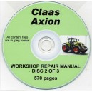 CLAAS AXION WORKSHOP REPAIR MANUAL ON CD 2 OF 3 SET
