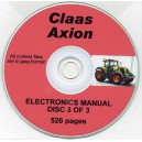 CLAAS AXION ELECTRONICS MANUAL DISC 3 OF 3 PART SET