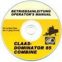 CLAAS DOMINATOR 85 COMBINE OPERATOR'S MANUAL ON CD