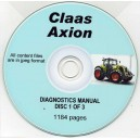 CLAAS AXION DIAGNOSTICS MANUAL DISC 1 OF A 3 DISC SET