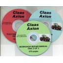 CLAAS AXION 3 CD SET INC. ELECTRONICS, WORKSHOP REPAIR & DIAGNOSTICS MANUALS