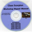 CLAAS SCORPION 9040, 7045, 7040, 7030 6030 REPAIR MANUAL ON CD