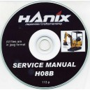 HANIX H08B DIGGER SERVICE MANUALS ON CD