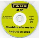 FAHR M 66 COMBINE INSTRUCTION BOOK ON CD