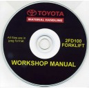 TOYOTA 2FD100 FORKLIFT WORKSHOP MANUAL ON CD
