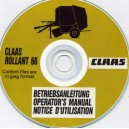 CLAAS ROLLANT 66 ROUND BALER OPERATOR'S MANUAL ON CD