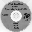 FIAT TRATTORI BALER MODELS 4260, 4240 & 4220 OPERATOR'S MANUAL ON CD