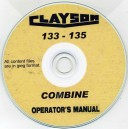 CLAYSON 133 & 135 COMBINE OPERATOR'S MANUAL ON CD