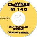 CLAYSON M140 COMBINE OPERATOR'S MANUAL ON CD