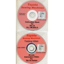 TOYOTA SL 1A SERIES OVERLOCKER INSTRUCTION USER MANUAL ON CD AND TUTORIAL DVD