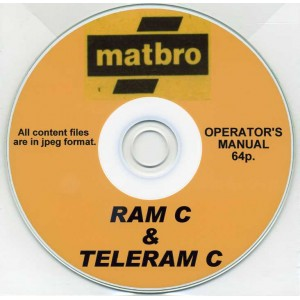 MATBRO RAM C & TELERAM C OPERATOR'S MANUAL ON CD