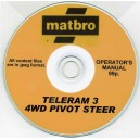 MATBRO TELERAM 3 4WD PIVOT STEER OPERATOR'S MANUAL ON CD