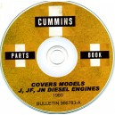 CUMMINS J, JF, JN DIESEL ENGINE PARTS BOOK ON CD