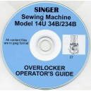 SINGER 14U 34B & 234 B USER INSTRUCTION MANUAL & PARTS LIST ON CD