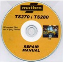 matbro ts270 and ts280 REPAIR MANUAL ON CD