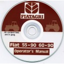FIAT 55-90 & 60-90 TRACTOR OPERATING MANUAL ON CD