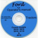FORD 2610, 3610, 3910, 4110 & 4610 OPERATORS MANUAL ON CD