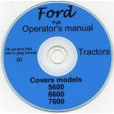 FORD 5600, 6600 & 7600 TRACTOR OPRATOR'S MANUAL ON CD