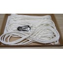 1 x Flag pole rope for 20' or 30' pole. 5mm tight braid low stretch free clips