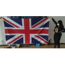 Huge union jack flag 8' x 5' (coffin drape) with 3 free caribiner clips