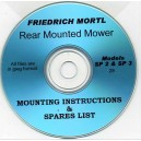 FRIEDRICH MORTL SP/2 & 3 MOWER MOUNTING INSTRUCTIONS ON CD