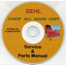 GEHL CHOP ALL MAIN UNIT SERVICE MANUAL & PARTS LIST ON CD