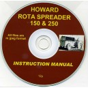 HOWARD ROTA SPREADER INSTRUCTION MANUAL ON CD
